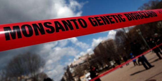 """Un cartel en la Reciente protesta mundial Donde participaron 200 Millones contra Monsanto preguntaba: ¿""""Por Qué el alcalde Fabricante de pesticidas TUS Alimentos-modificaciones producir""""?"""
