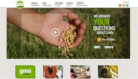 El sitio está respaldado en parte por Monsanto, DuPont, Dow AgroSciences -una unidad de Dow Chemical,- y otras compañías cuyos productos incluyen semillas que han sido alteradas genéticamente de forma que, según las empresas, mejoran la producción de alimentos.