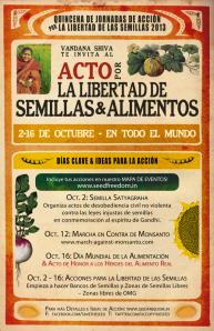 Quincena de Acción por la Libertad de la Semilla y el Alimento: 2 – 16 octubre 2013